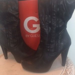 G By GUESS Platform Over the Knee Boots